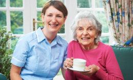 grandma with her tea